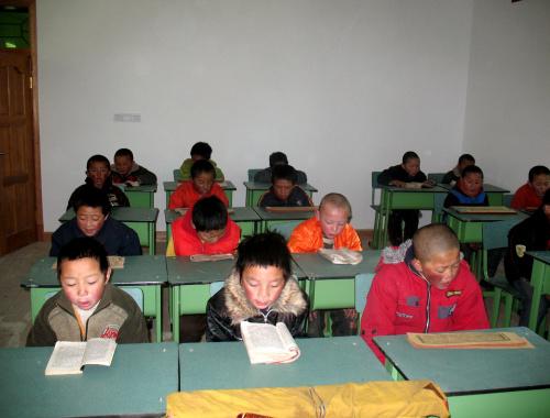 Le nuove aule della scuola di Derge.