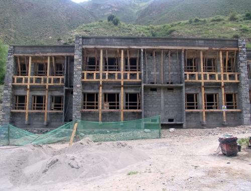 Lavori in corso nella scuola di Derge (2007)
