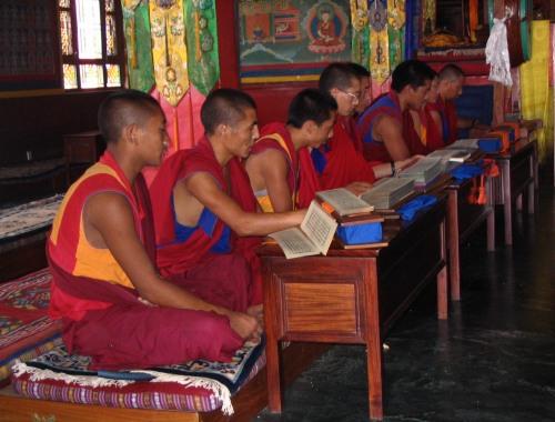Momento dello studio nel monastero di Triten