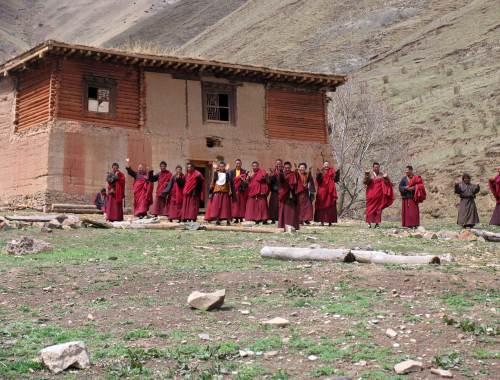 Il Monastero di Dzongsta in costruzione
