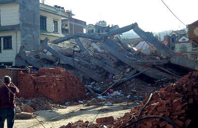 Palazzo crollato a Kathmandu