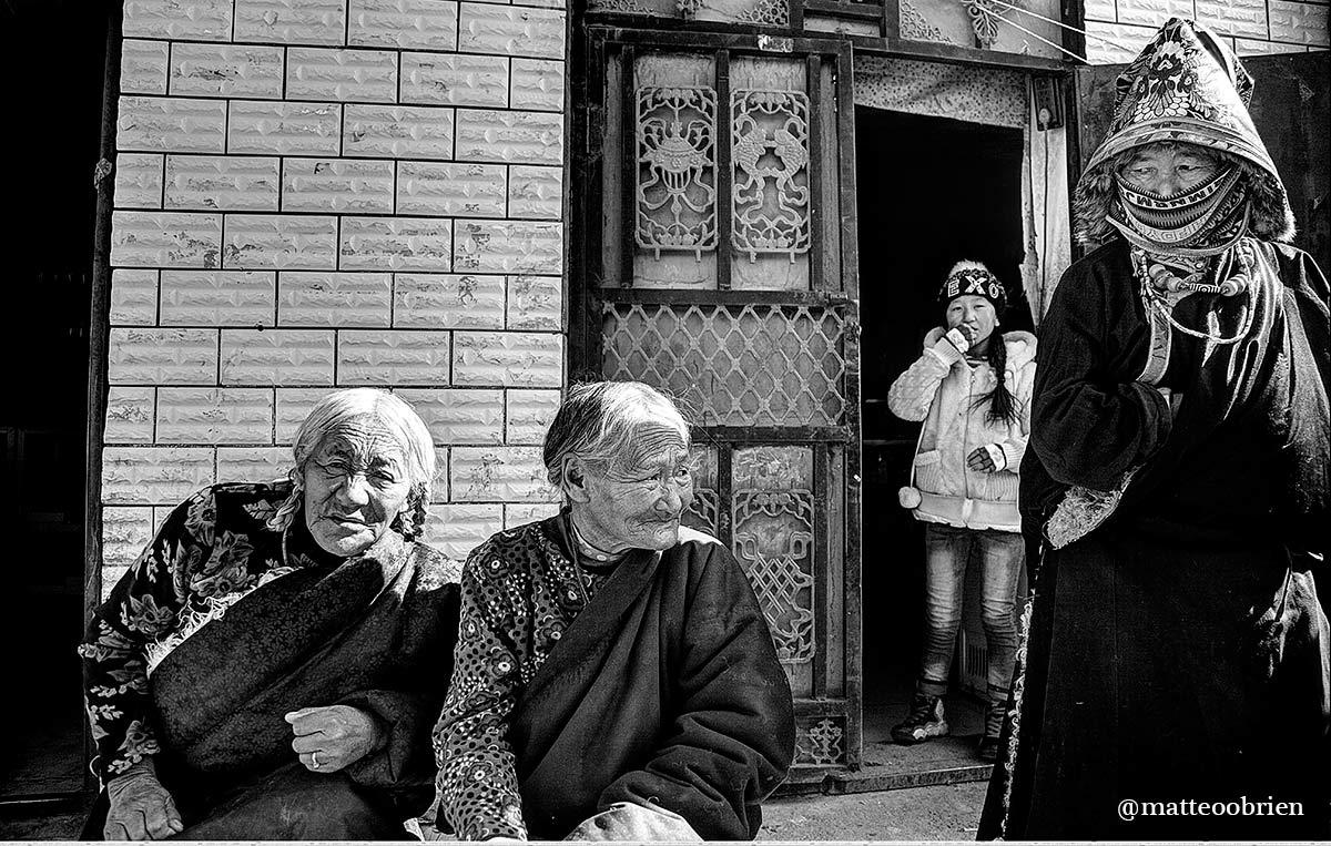 Donne anziane tibetane
