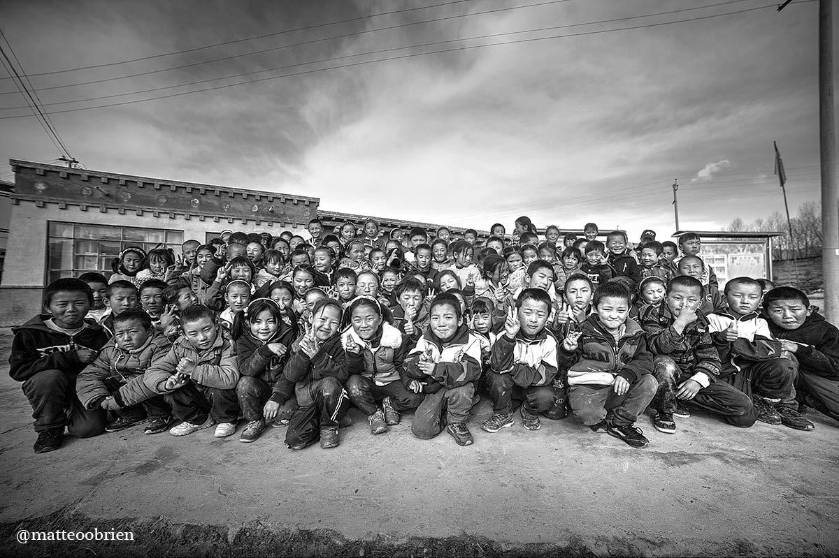 Alunni della scuola diTangann