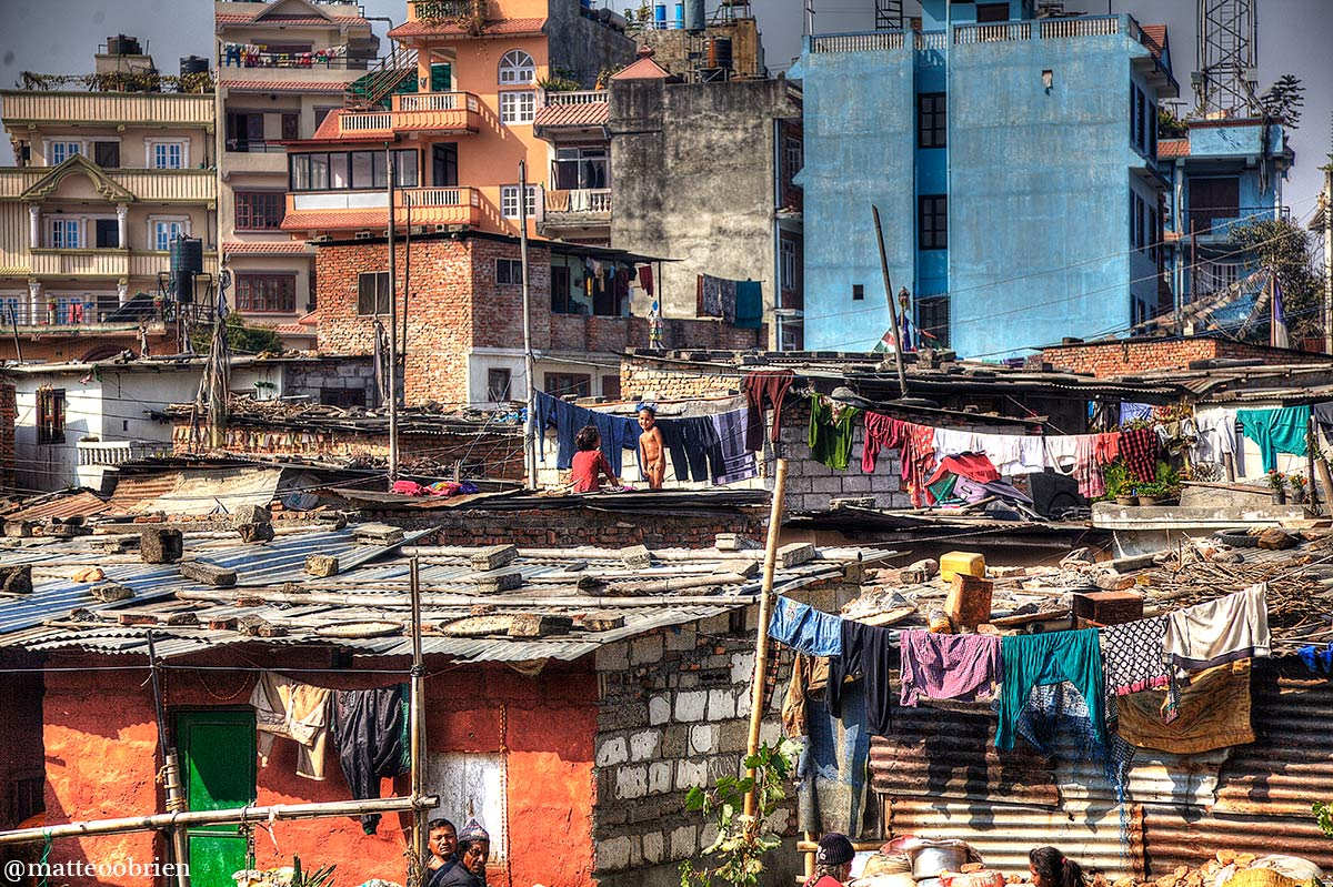 Gli slums di Kathmandu