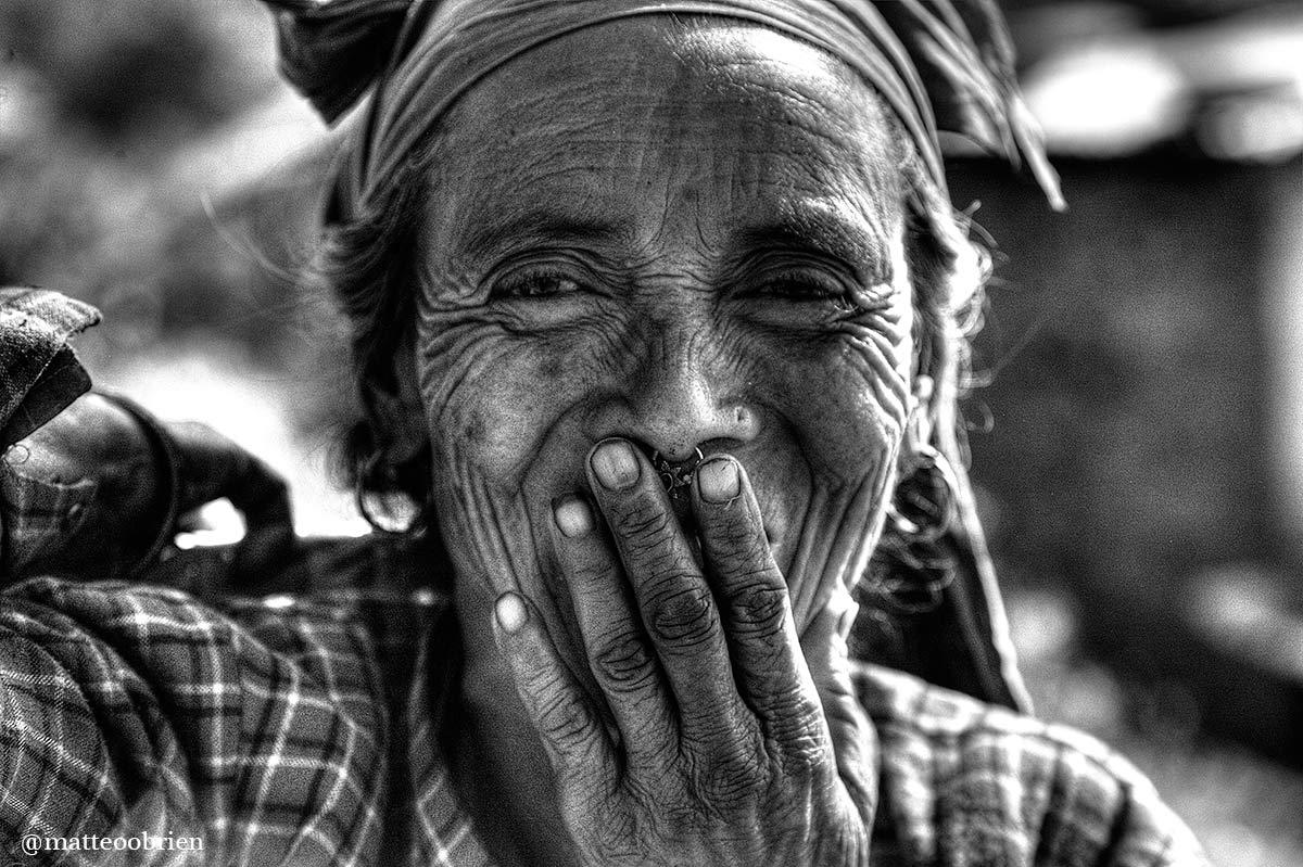 Anziani del Distretto di Rasuwa nel nord del Nepal