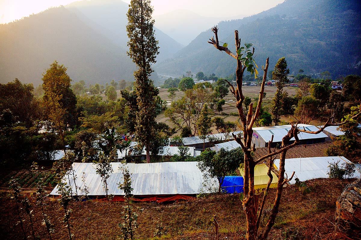 Shelters (rifugi temporanei) nel Distretto di Rasuwa